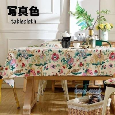 テーブルクロス欧米風おしゃれテーブルセッティング布四角形長方形綿プリントテーブルクロスお手入れ簡単耐熱汚れ防止家庭用業務用食卓カバー