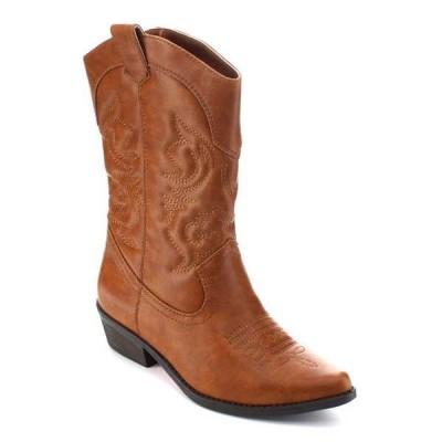ブーツ シューズ 靴 海外セレクション ベストon JAMEE-1 レディース Mid-Calf Western スタイル Cow Boy ブーツ TAN