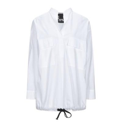 8PM ブラウス  レディースファッション  トップス  シャツ、ブラウス  長袖 ホワイト