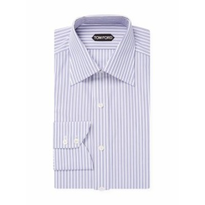トムフォード Men Clothing Spread Collar Cotton Stripe Dress Shirt