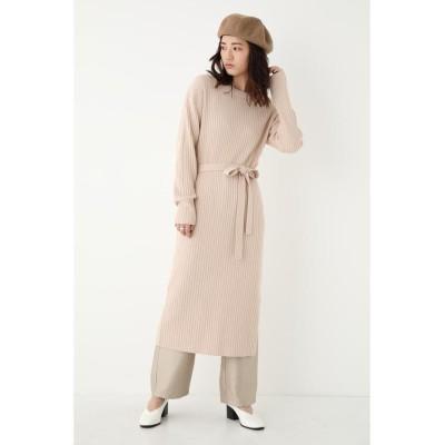 【シェルターセレクト】 ベルトリブミディワンピース(Belted Rib Midi DRESS)/ドレス レディース IVOY3 FREE SHEL'TTER SELECT