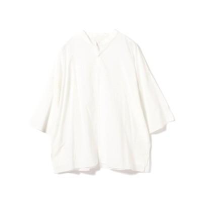 【アウトレット】mii × International Gallery BEAMS / 別注 SOLID カフタンシャツ