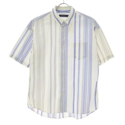 【期間限定値下げ】RAGE BLUE / レイジブルー ストライプ柄 半袖シャツ