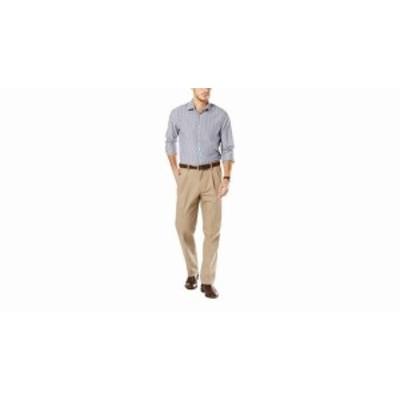 dockers ドッカーズ ファッション パンツ Dockers Mens Pants Beige Size 46X30 Pleated Front Khakis Stretch