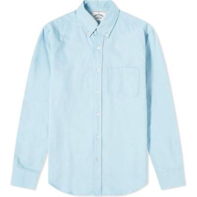ポーチュギースフランネル Portuguese Flannel メンズ シャツ フランネルシャツ トップス Button Down Belavista Oxford Shirt Sky