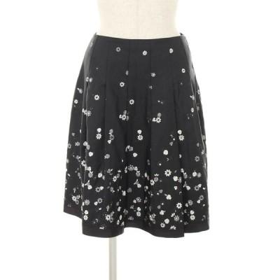 エムズグレイシー スカート フラワーモチーフ 刺繍 花柄 38