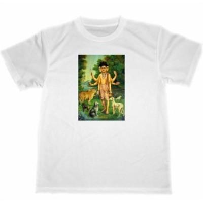 ラヴィ・ヴァルマ ダッタトレイヤー ドライ Tシャツ シヴァ 神様 ヒンズー教 インド 曼荼羅