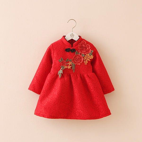 歲末清倉~時尚可愛寶寶旗袍紗裙10 喜氣洋裝 兒童過年服裝 禮服