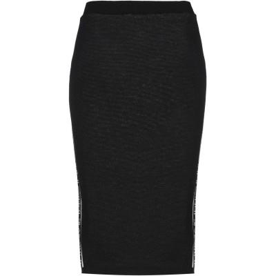 エムエスジーエム MSGM 7分丈スカート ブラック M ウール 50% / アクリル 50% 7分丈スカート