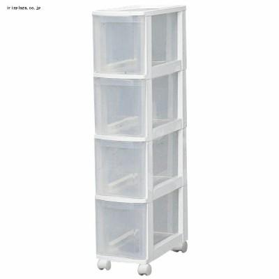 キッチンチェスト 040 ホワイト/クリア