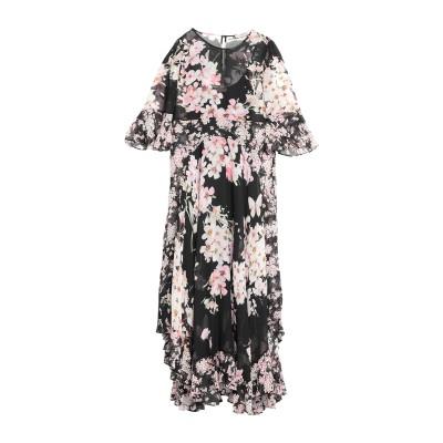 ツインセット シモーナ バルビエリ TWINSET ロングワンピース&ドレス ブラック 38 ポリエステル 100% ロングワンピース&ドレス