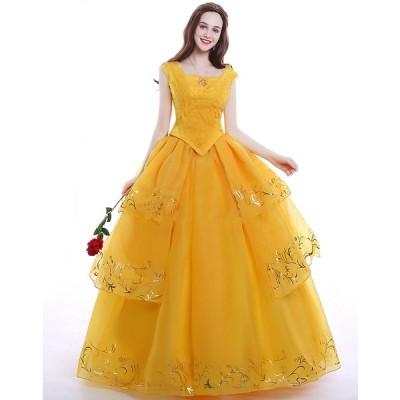M53 ハロウィン 女性用 ベル ワンピース プリンセスドレス お姫様 コスプレ レディース なりきりワンピース 女王 大きいサイズ ロングドレス