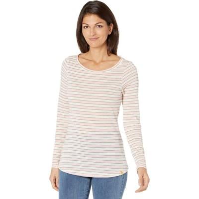 ユーエスポロアッスン U.S. POLO ASSN. レディース 長袖Tシャツ トップス Long Sleeve Lurex Shadow Stripe Knit Shirt English Rose