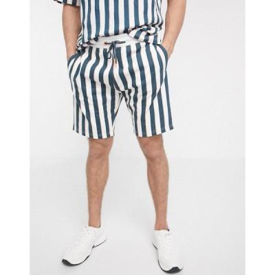スリードベア Threadbare メンズ ショートパンツ ボトムス・パンツ Organic Stripe Shorts ネオンマルチ