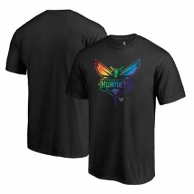 Fanatics Branded ファナティクス ブランド スポーツ用品  Fanatics Branded Charlotte Hornets Black Team Pride T-Shirt