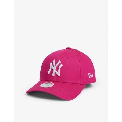 ニューエラ NEW ERA レディース キャップ ベースボールキャップ 帽子 9FORTY New York Yankees cotton baseball cap Pink/optic White