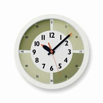 レムノス 掛け時計 ふんぷんクロック ウィズ カラー ! アナログ 緑 YD15-01 GN キッズ 知育 Lemnos
