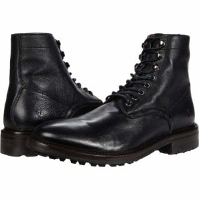 フライ Frye メンズ ブーツ レースアップ シューズ・靴 Greyson Lace-Up Black Deer Skin Leather