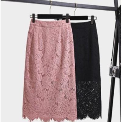 透かし編み かぎ編み レース編み スカート レディース ファッション タイト ハイウエスト 透け感 シースルー セクシー 大人可愛い フェミ