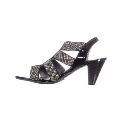 レディース 靴 ドレスシューズ Karen Scott Womens Nicolle Fabric Open Toe Special Occasion Slingback Sandals