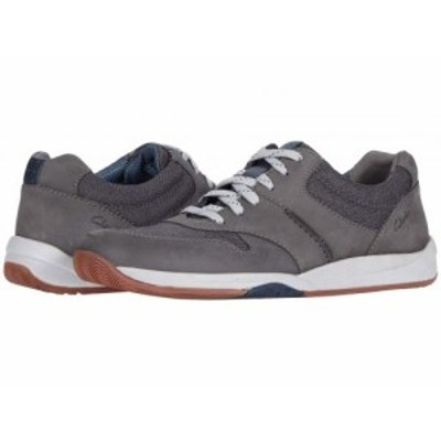 Clarks クラークス メンズ 男性用 シューズ 靴 スニーカー 運動靴 Langton Race Grey Nubuck【送料無料】