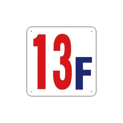 安全標識 J52-13 『13F』 階数表示板 300×300mm SCボード