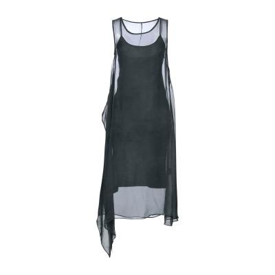 マスナダ MASNADA 7分丈ワンピース・ドレス ダークグリーン 40 シルク 100% 7分丈ワンピース・ドレス
