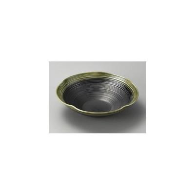 安南刷毛目高台楕円盛込皿(手造り) 32402-180