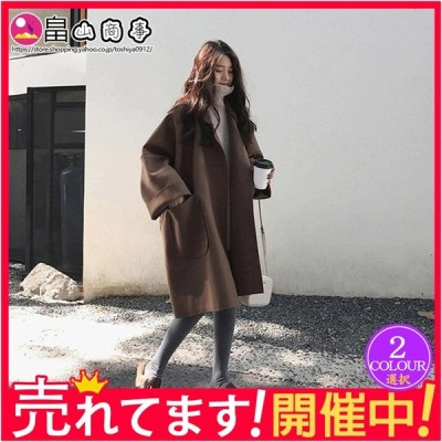 大人気 韓国風 ゆったり 体型カバー 大きいサイズ 上品 コート 春秋 シンプル 無地 チェスターコート アウター カジュアル