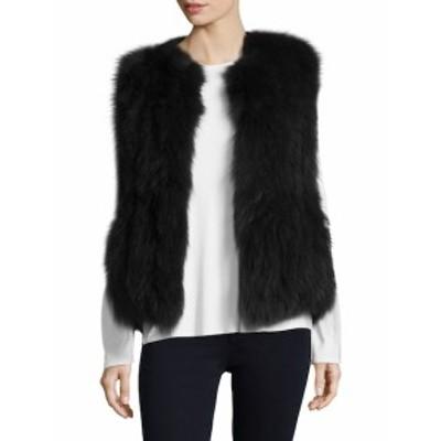 アナベルニューヨーク レディース アウター ジャケット Woven Cotton Fur Vest