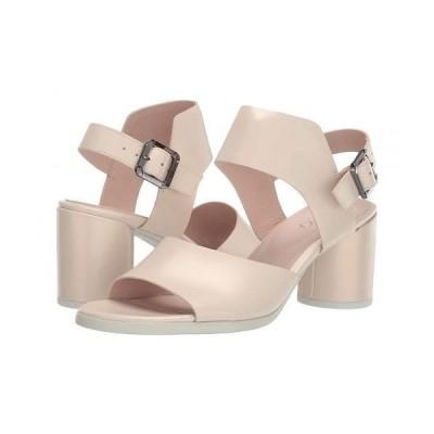 ECCO エコー レディース 女性用 シューズ 靴 ヒール Shape 65 Block Strap Sandal - Vanilla Metallic Calf Leather