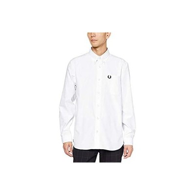 [フレッドペリー] 長袖シャツ Oxford Shirt M7550 メンズ 100_WHITE UK XS (日本サイズS相当)