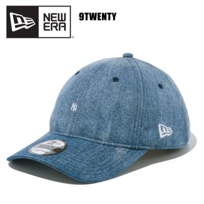 ニュー エラ NEW ERA  9TWENTY ニューヨーク・ヤンキース マイクロロゴ Washed Denim キャップ 帽子 男性用 [BB]