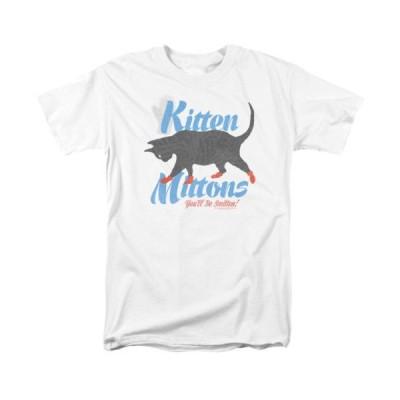 Tシャツ 海外バイヤーセレクト It's Always Sunny In Philadelphia Kitten Mittons Licensed Adult T Shirt