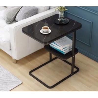 ベッドサイドテーブル 置台 大理石サイドテーブル ナイトテーブル 高級感 アンティーク風 ソファーテーブル