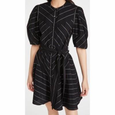 レベッカ テイラー La Vie Rebecca Taylor レディース ワンピース ワンピース・ドレス Short Sleeve Satin Stripe Dress Black Combo