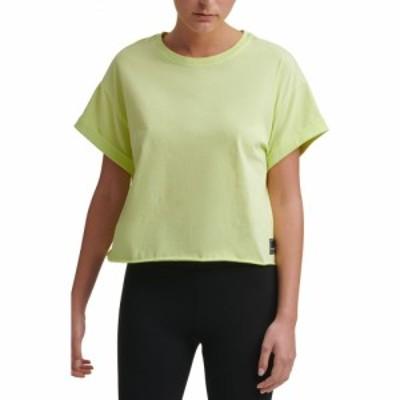 ダナ キャラン ニューヨーク DKNY SPORT レディース ベアトップ・チューブトップ・クロップド Tシャツ トップス Logo Patch Crop T-Shirt