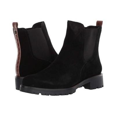 サム エデルマン Jaclyn レディース ブーツ Black Waterproof Velour Suede Leather