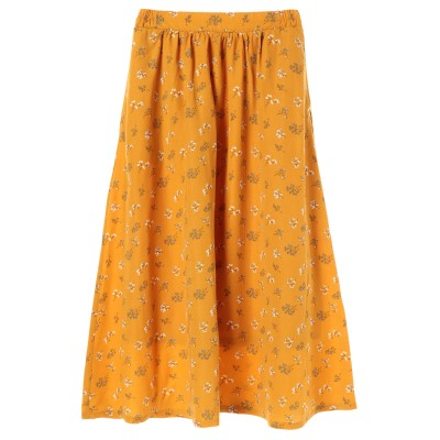 花柄ギャザーロングスカート