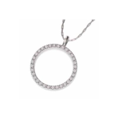 10kホワイトゴールド ネックレス ダイアモンド