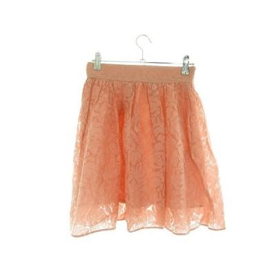 【中古】ジルスチュアート JILL STUART スカート フレア ミニ 総柄 0 ピンク /M1 レディース 【ベクトル 古着】