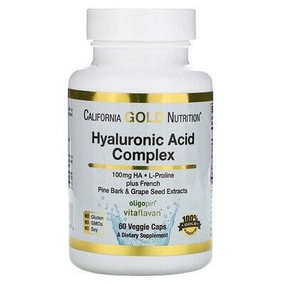 ヒアルロン酸複合体、植物性カプセル60粒