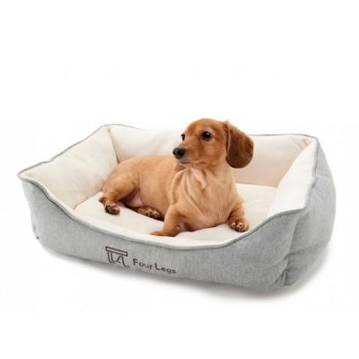 犬 ベッド猫 ベッド Four Legs スクエアベッド M,ヘリンボーングレー