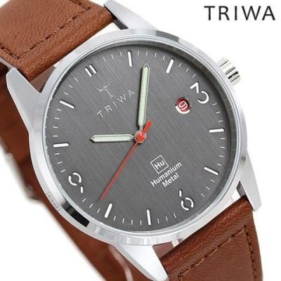 トリワ 時計 メンズ レディース 腕時計 TRIWA ヒューマニウム HU39D-SC010212 ダークグレー×ブラウン