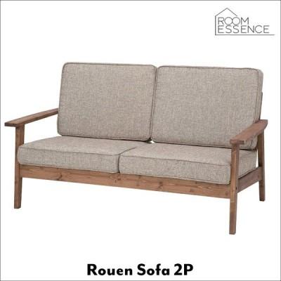 ソファ 幅141cn 2人掛け ソファー sofa 収布張 天然木 木製 フレンチ 可愛い CFS-846