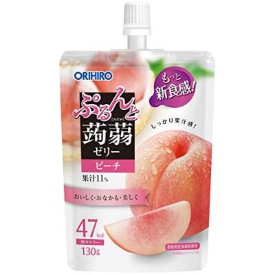 オリヒロ ぷるんと蒟蒻ゼリー 低カロリー ピーチ 130g8個