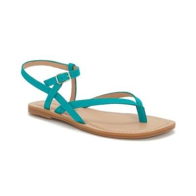 ラッキーブランド サンダル シューズ レディース Women's Bylee Square-Toe Thong Flat Sandals Lapis Blue