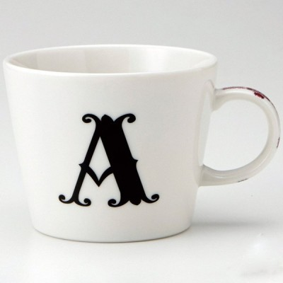 小倉陶器 アルファベット マグカップ A