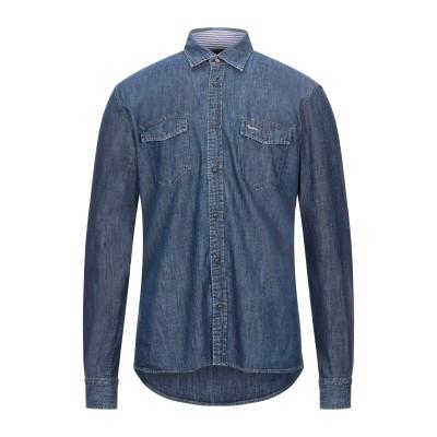HARMONT&BLAINE デニムシャツ ブルー L コットン 100% デニムシャツ