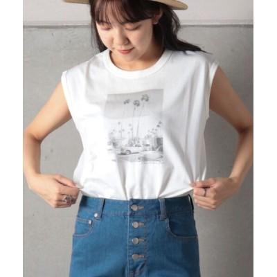 FREDY&GLOSTER / ノースリーブ フォトTシャツ WOMEN トップス > Tシャツ/カットソー